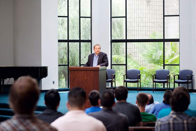 The spiritual life of Westminster Seminary California is nurtured by morning devotions on Tuesdays and Thursdays and student-advisor prayer groups on Wednesdays. All devotional exercises are governed by the Word of God, which remains the true guide in Christian worship and prayer, as well as in all other activities of the Christian life and life on campus.